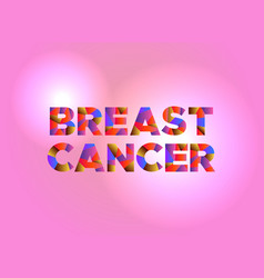 Breast cancer concept colorful word art vector