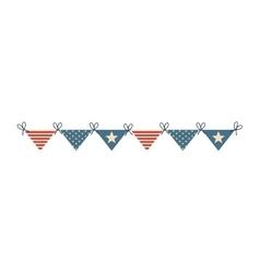 Buntinng usa flag decoration vector