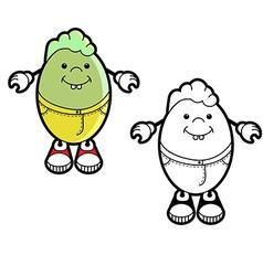 Cartoon character of egg vector image