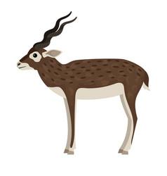 Cartoon wild antelope vector
