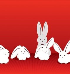 Catch the moment rabbits vector