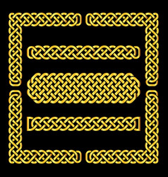 Celtic knots borders and corner elements vector