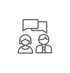 Communication chat bubble outline icon elements vector