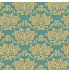 Damask elegant flower ornament pattern vector