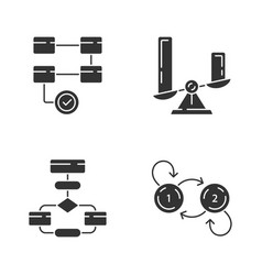 Diagram concepts glyph icons set activity vector