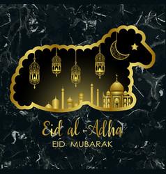 Eid al adha marble template vector