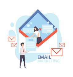 Email marketing advertising campaign newsletter vector