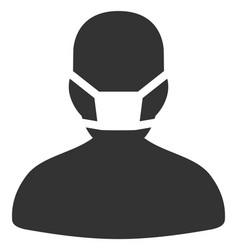 Flat masked man icon vector