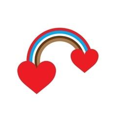 Flat web icon on white background rainbow heart vector