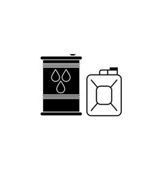 fuel icon can with fuel icon black on white vector image