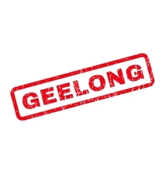 Geelong Rubber Stamp vector image