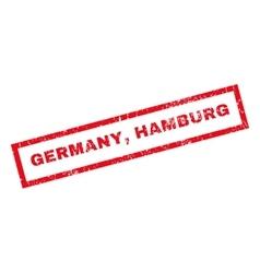 Germany Hamburg Rubber Stamp vector