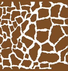 Giraffe skin seamless pattern african animals vector