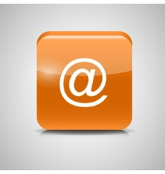 Glass Mail Button Icon vector