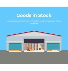 Goods in Stock Banner Design Flat vector image