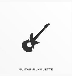 guitar silhouette design template vector image
