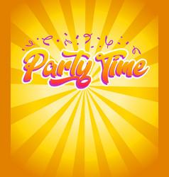 Happy birthday party time invitation card vector