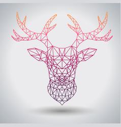 hipster polygonal animal deer triangle animal vector image