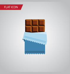 isolated chocolate flat icon bitter vector image