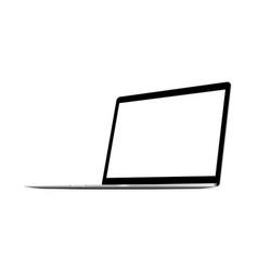 Laptop computer grey mockup vector