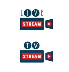 live stream camera shape vector image