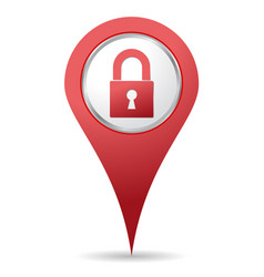 location padlock icon vector image