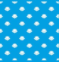 lotus pattern seamless blue vector image