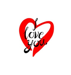 Love You Valentines Day Greeting card vector