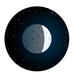lunar eclipse round icon vector image