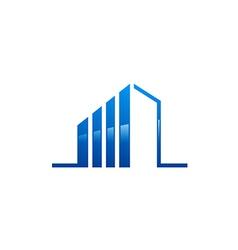 Modern building construction line logo vector