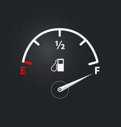 Modern fuel indicator with high fuel level vector