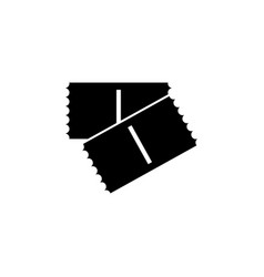 monochrome ticket icon two ticket cinema ticket vector image