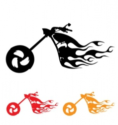 Motorcycle symbol vector