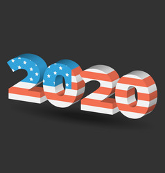 New year sign with usa flag texture vector