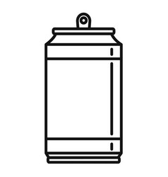 no energy drink icon outline style vector image