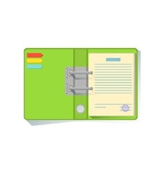 Notebook Organizer With Green Cover Office Worker vector