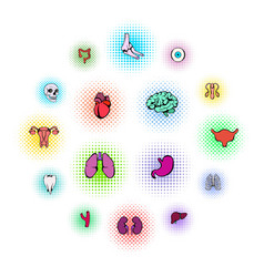 organs icons set vector image