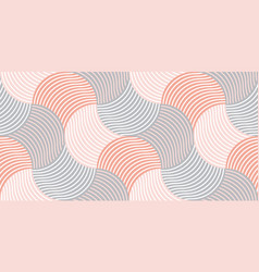 Pastel color 60s style geometric seamless pattern vector