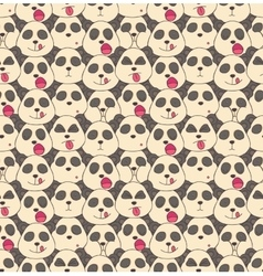 Pattern from pandas muzzles vector image