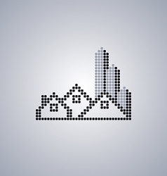Pixel house logo template vector