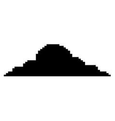 pixelated cloud weather sky icon vector image