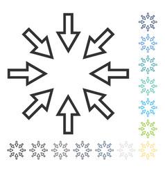 Pressure arrows icon vector