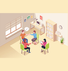 psychologist session people group psychotherapy vector image