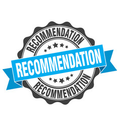 Recommendation stamp sign seal vector