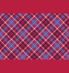 Red tartan plaid seamless fabric texture vector