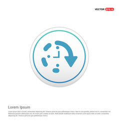 Repeat time icon - white circle button vector