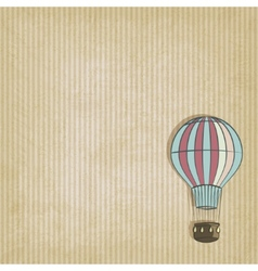 retro background with aerostat vector image