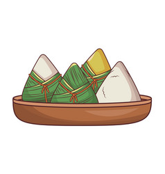 Rice dumplings food vector