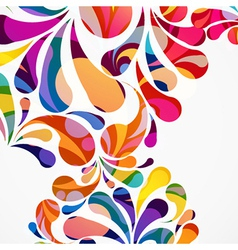 Rounded colorful arc drops Decorative abstract vector