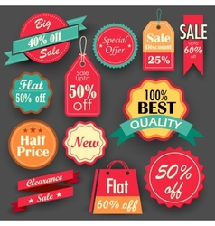 Sale and Discount tags vector